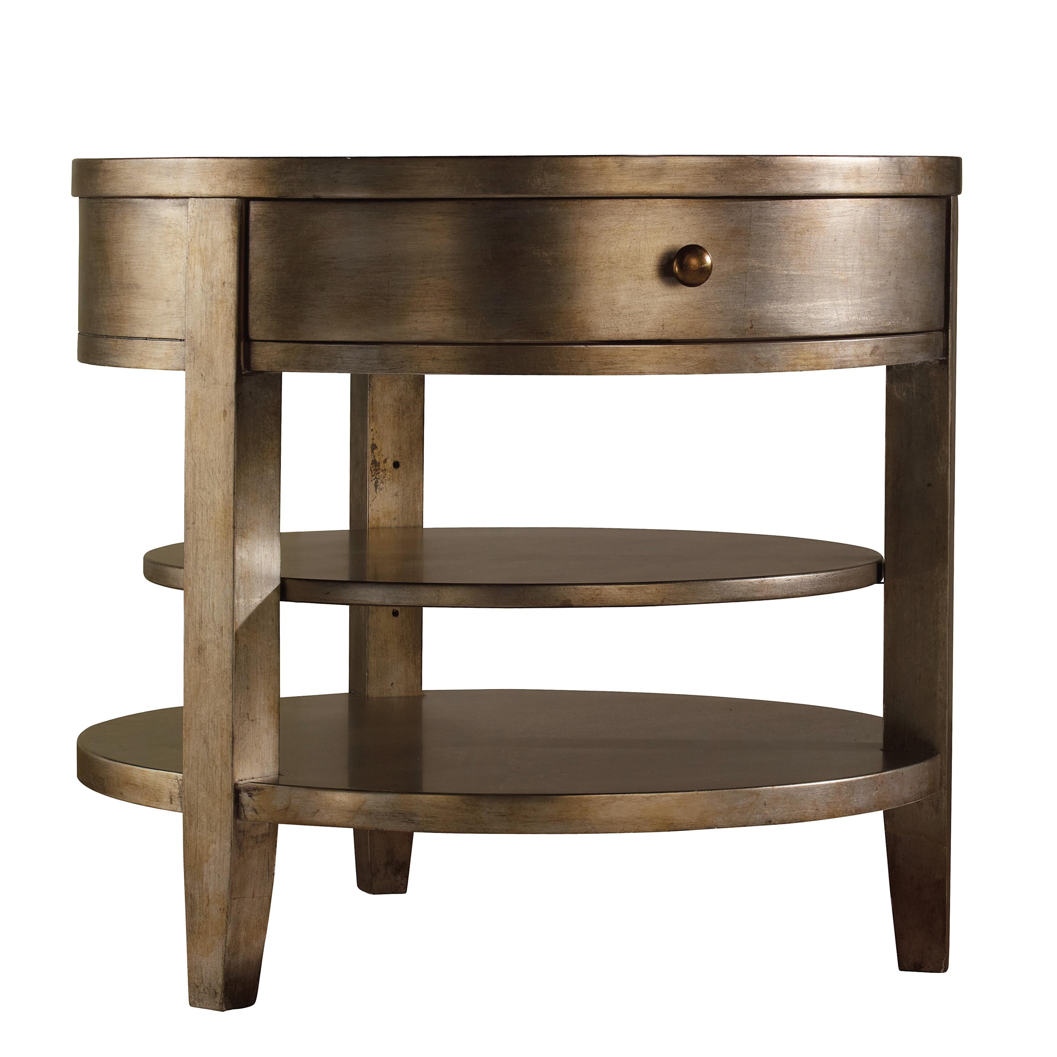 Sanctuary One-Drawer Round Lamp Table by Hooker Furniture at Stoney Creek Furniture