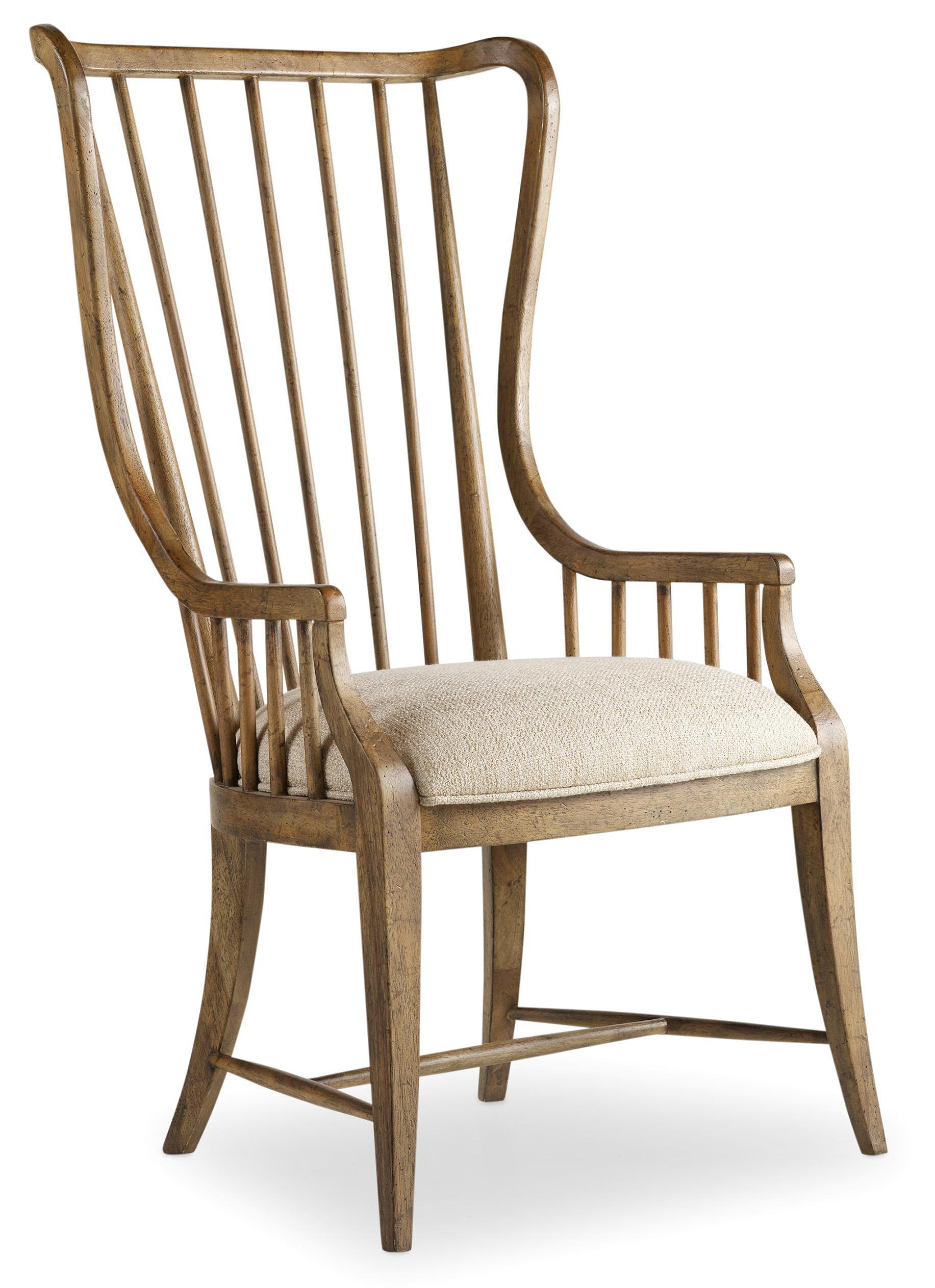 Sanctuary Tall Spindle Arm Chair by Hooker Furniture at Miller Waldrop Furniture and Decor