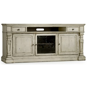 Entertainment Console with Center Channel Speaker Area