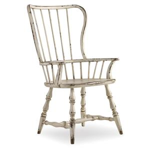 Vintage Style Spindle Back Arm Chair