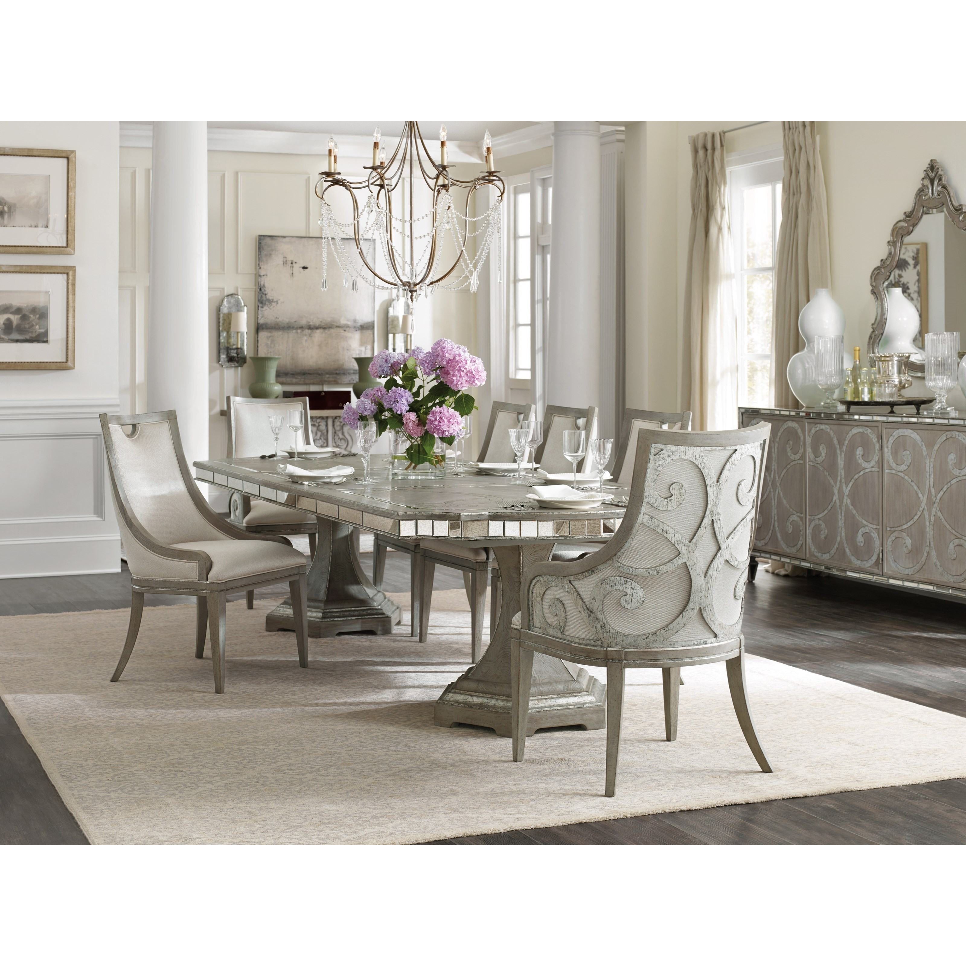 Sanctuary Formal Dining Room Group by Hooker Furniture at Miller Waldrop Furniture and Decor