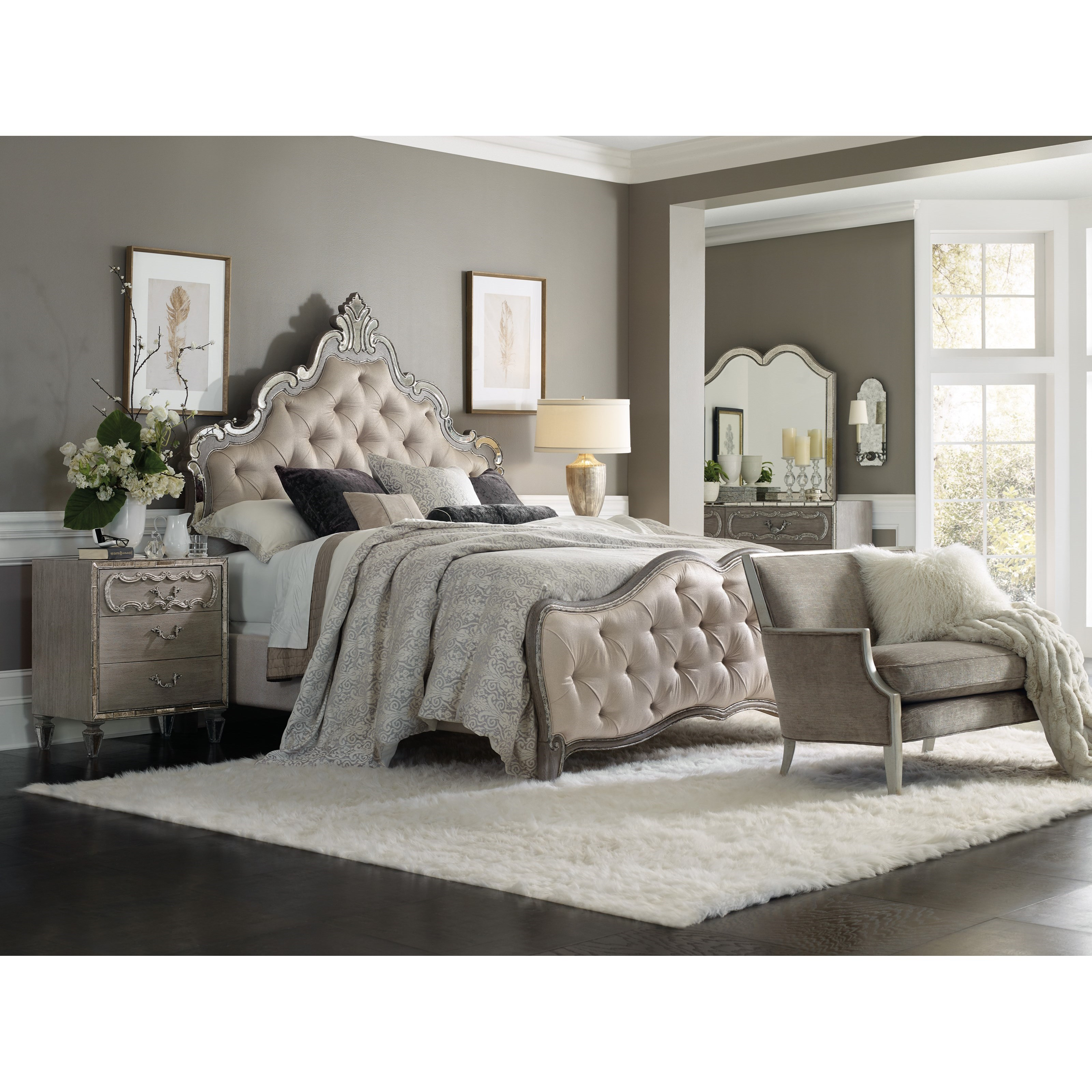 Sanctuary California King Bedroom Group by Hooker Furniture at Alison Craig Home Furnishings