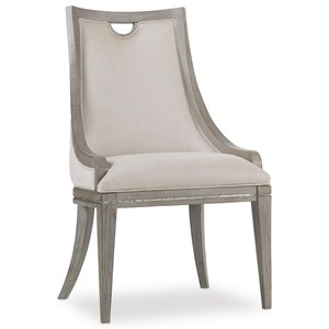 Transitional Upholstered Side Chair with Wood Frame