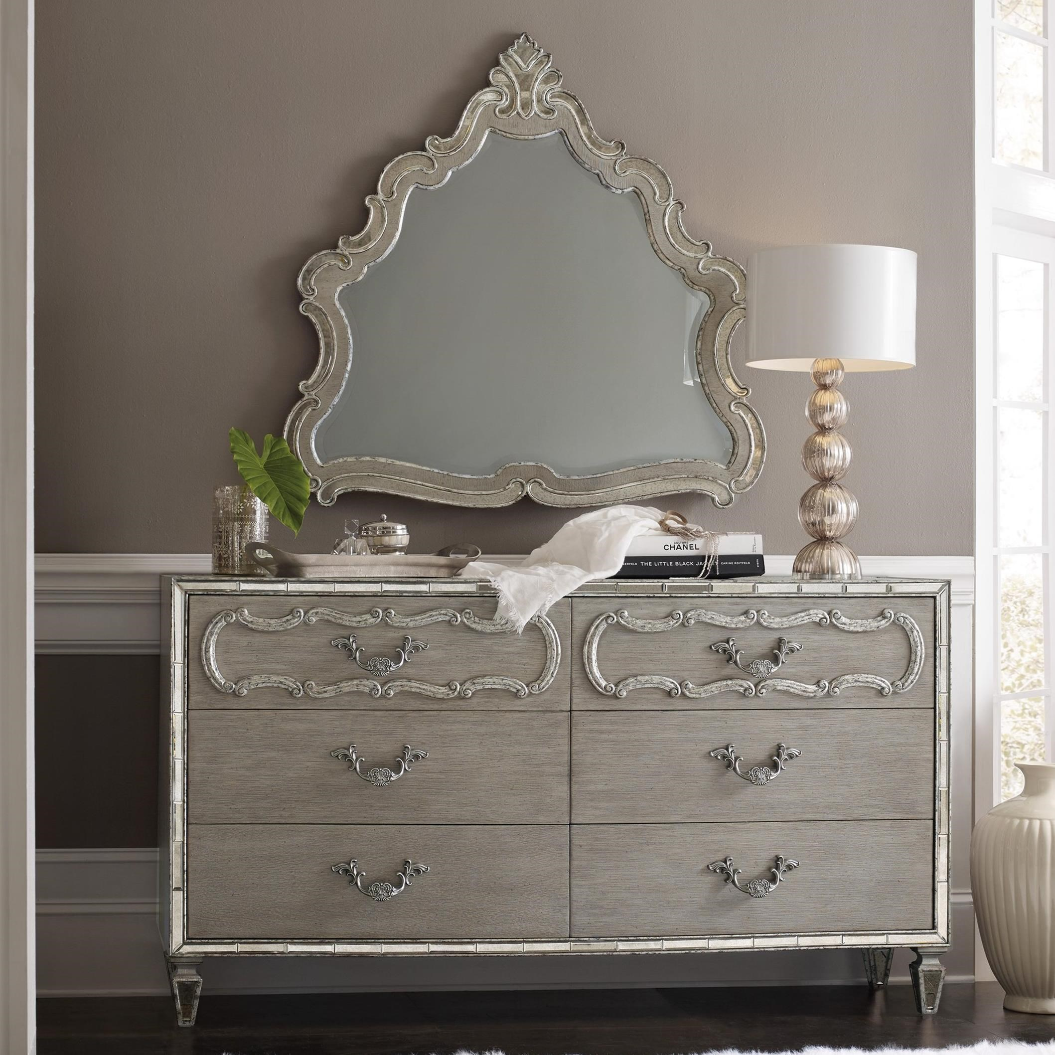 Sanctuary Dresser and Mirror by Hooker Furniture at Miller Waldrop Furniture and Decor