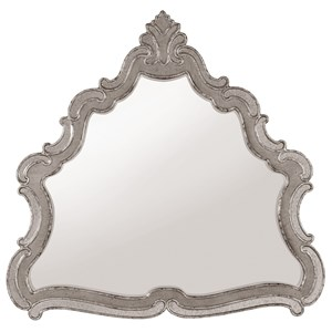 Relaxed Vintage Shaped Mirror with Distressed Finish