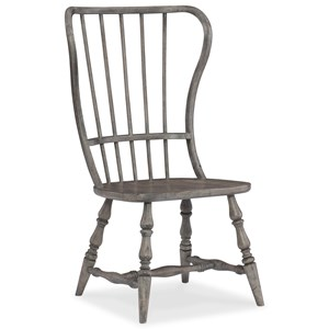 Transitional Spindle Back Side Chair