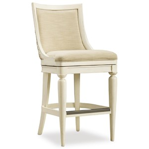 Upholstered Barstool with Swivel Seat