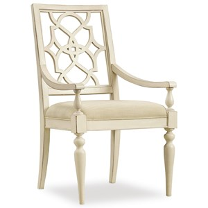 Fretback Arm Chair - Upholstered Seat