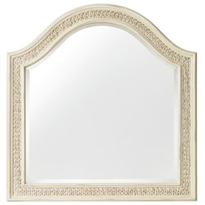 Arched Mirror with Woven Sea Grass