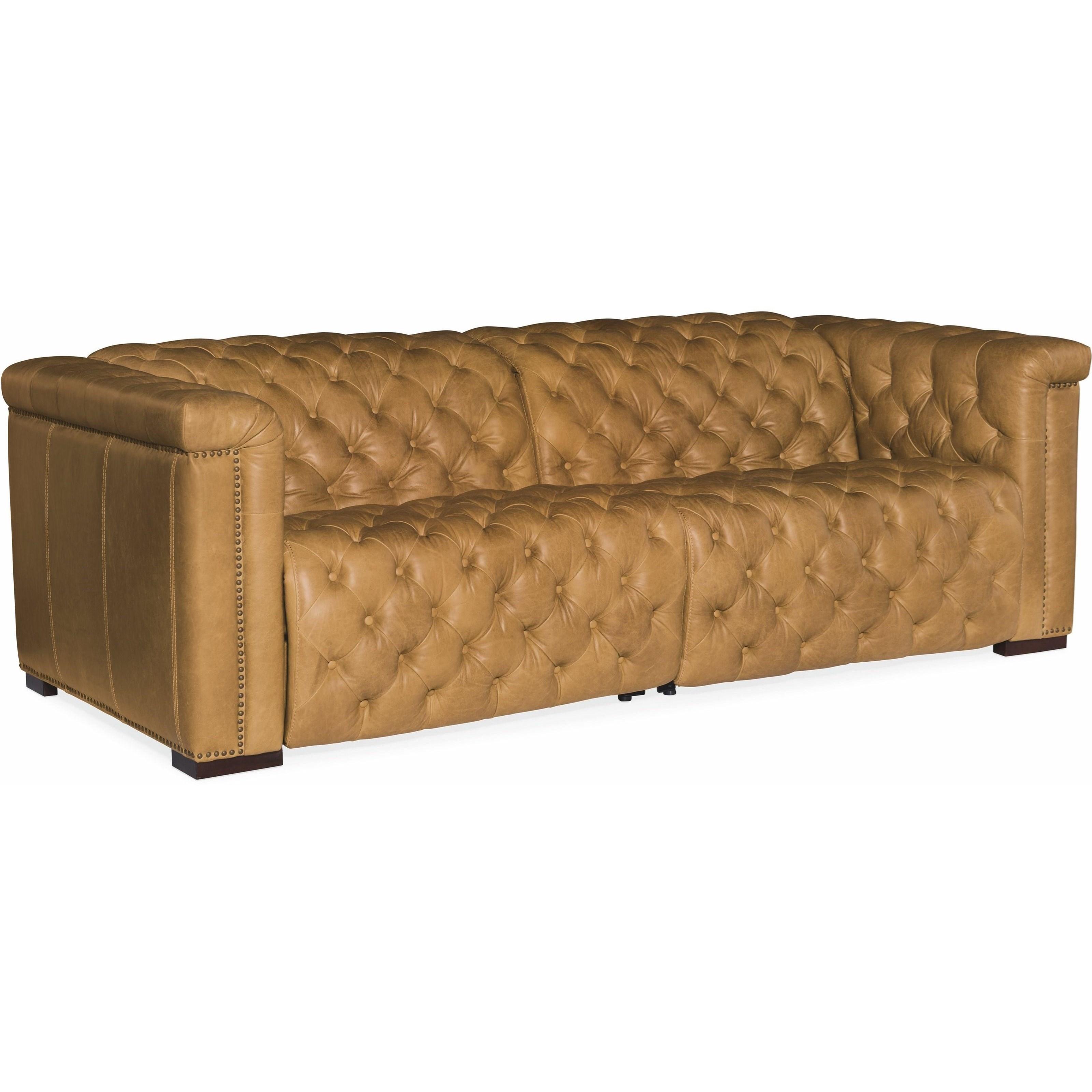 Savion Power Leather Motion Sofa by Hooker Furniture at Baer's Furniture