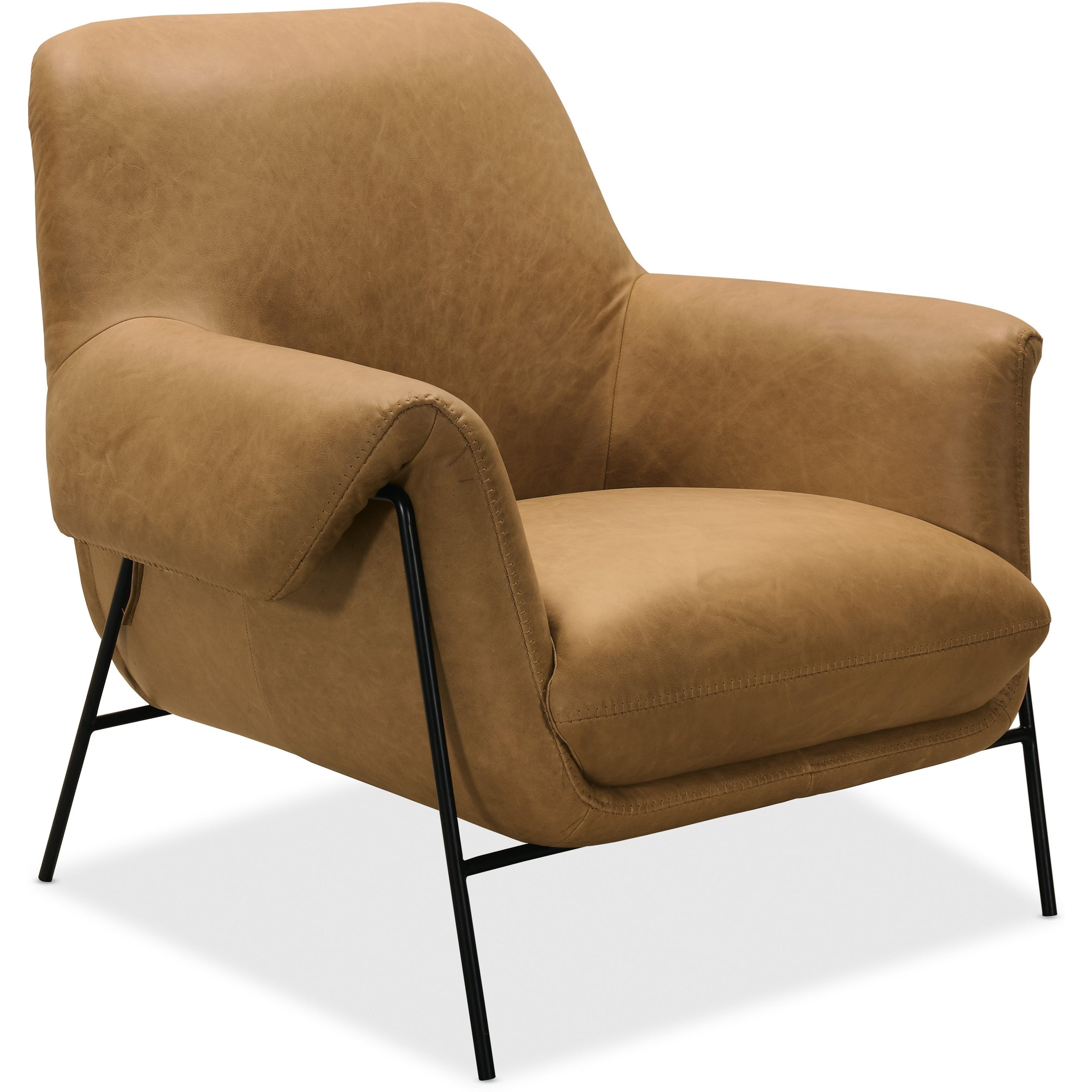 Ambroise Metal Frame Club Chair by Hooker Furniture at Zak's Home