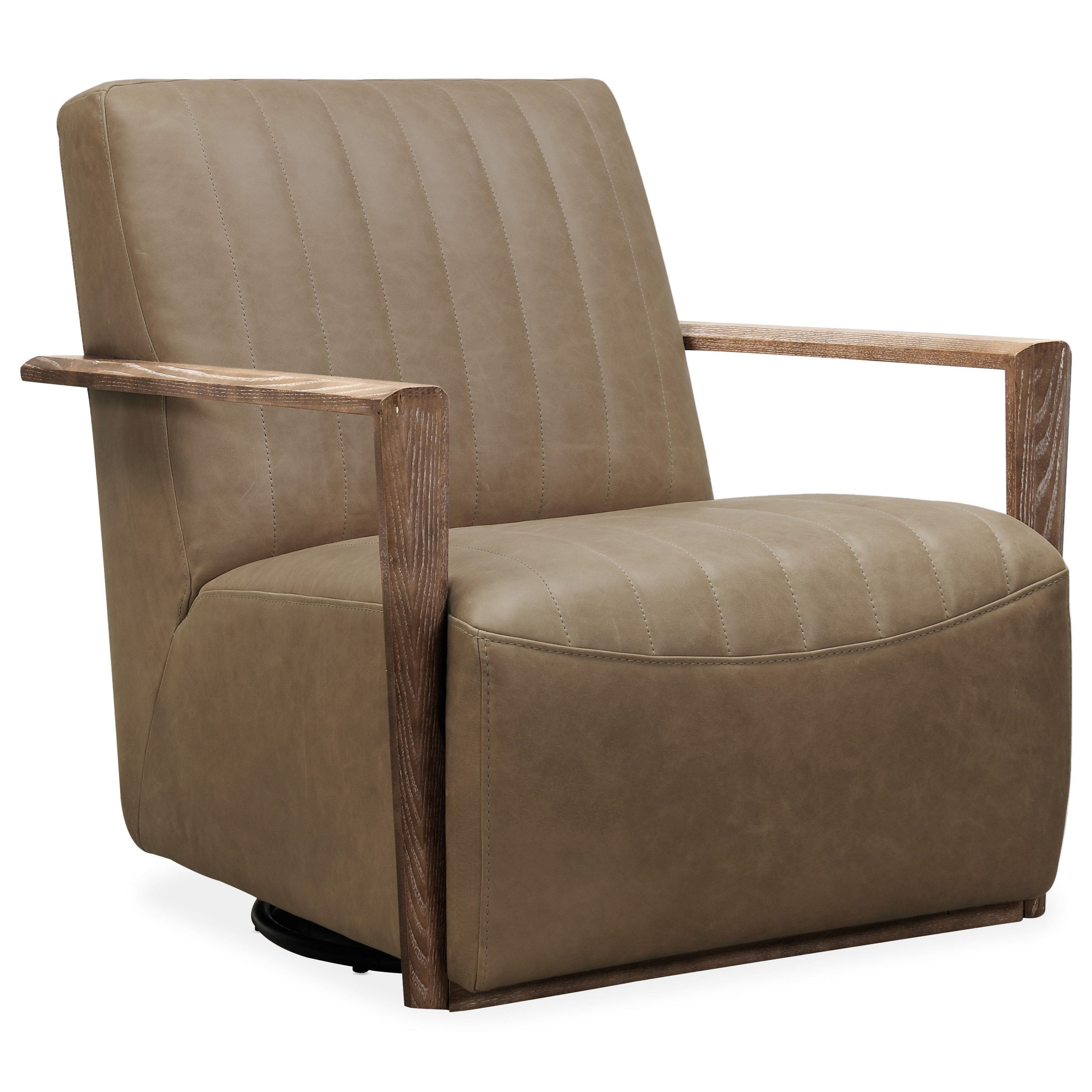Club Chairs Sophia Swivel Club Chair by Hooker Furniture at Miller Waldrop Furniture and Decor