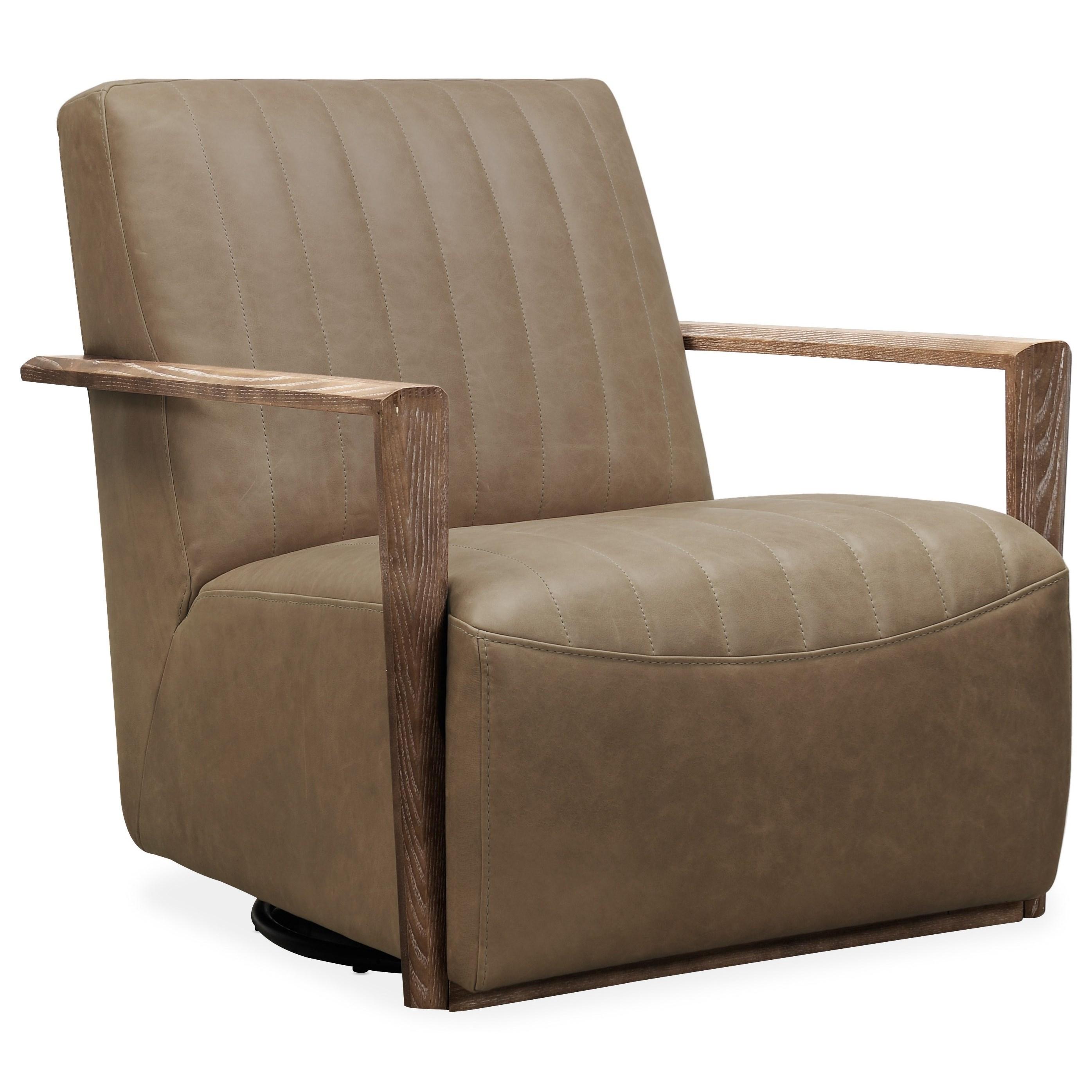 Club Chairs Sophia Swivel Club Chair by Hooker Furniture at Baer's Furniture