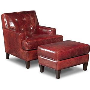 Covington Bogue Leather Chair and Ottoman