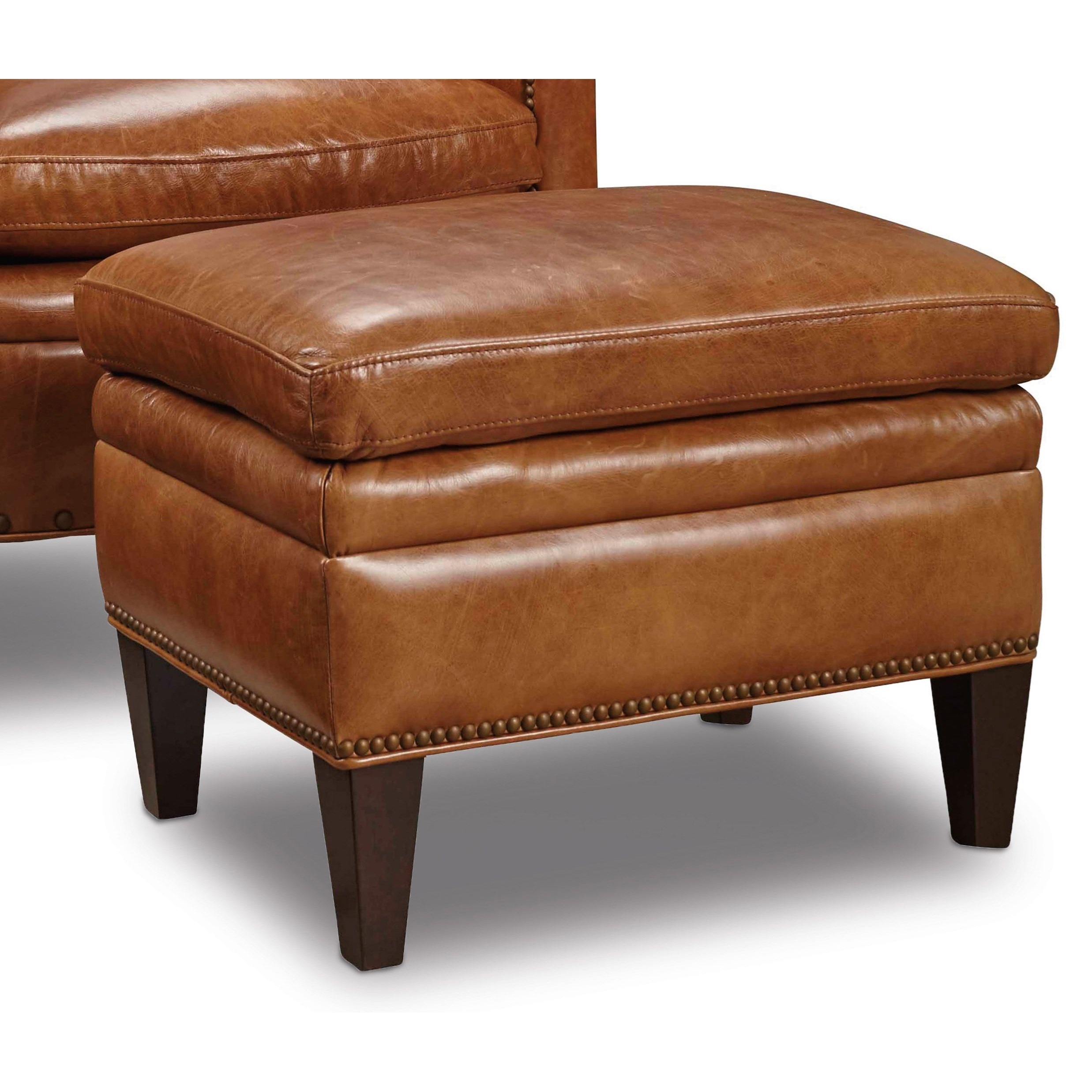 Club Chairs Traditional Ottoman by Hooker Furniture at Alison Craig Home Furnishings