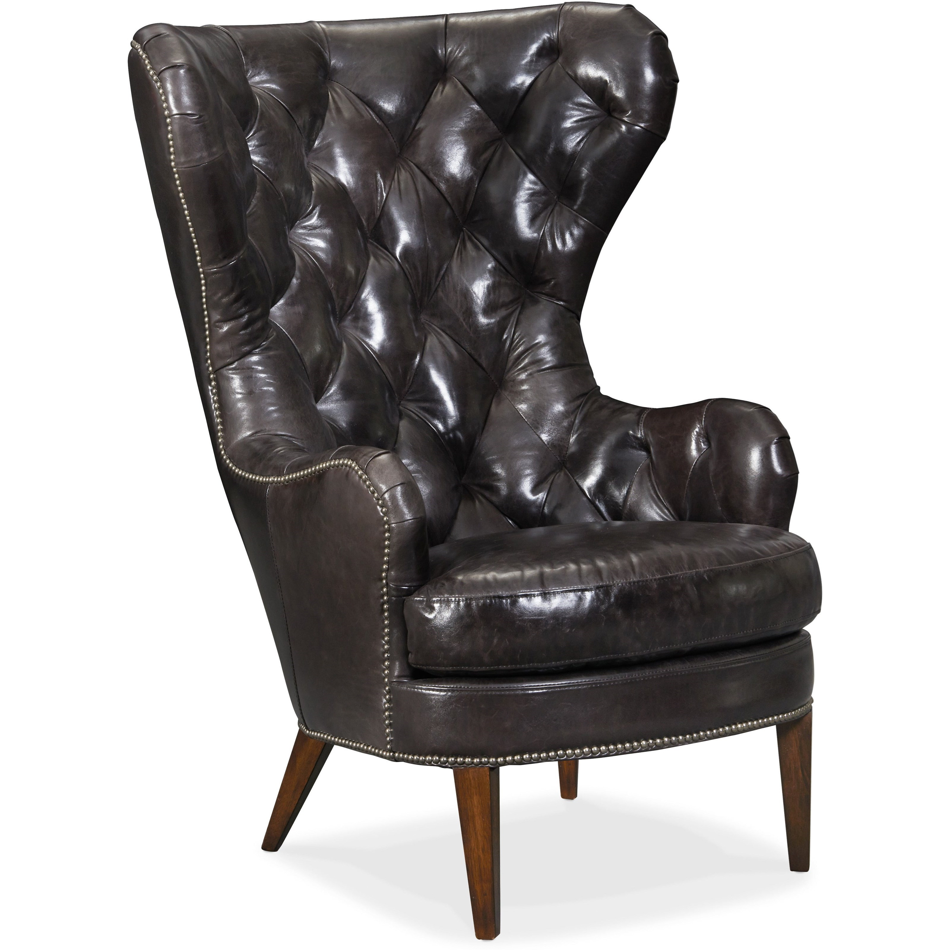 Club Chairs Souvereign Tufted Wing Chair by Hooker Furniture at Baer's Furniture