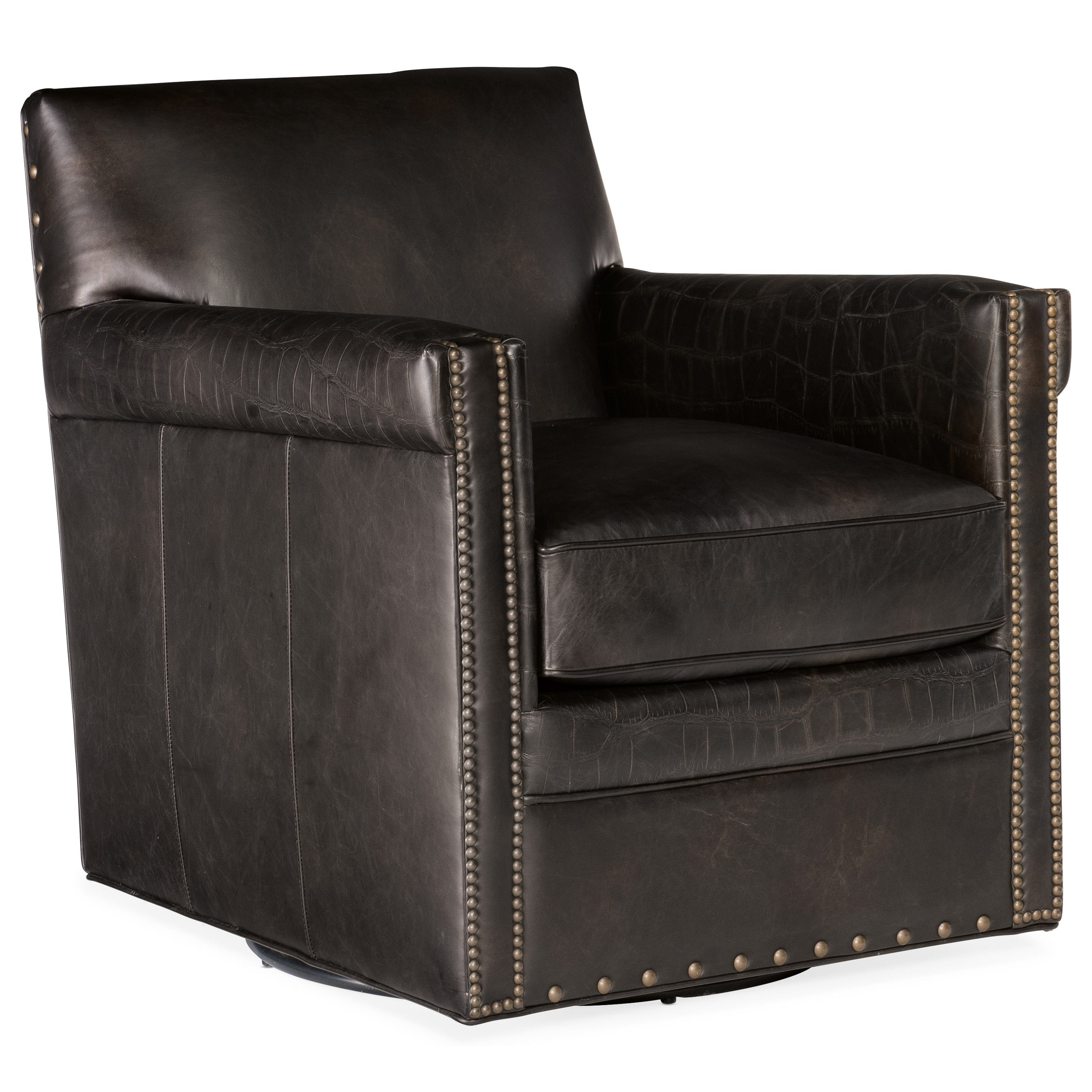 Club Chairs Potter Swivel Club Chair by Hooker Furniture at Baer's Furniture