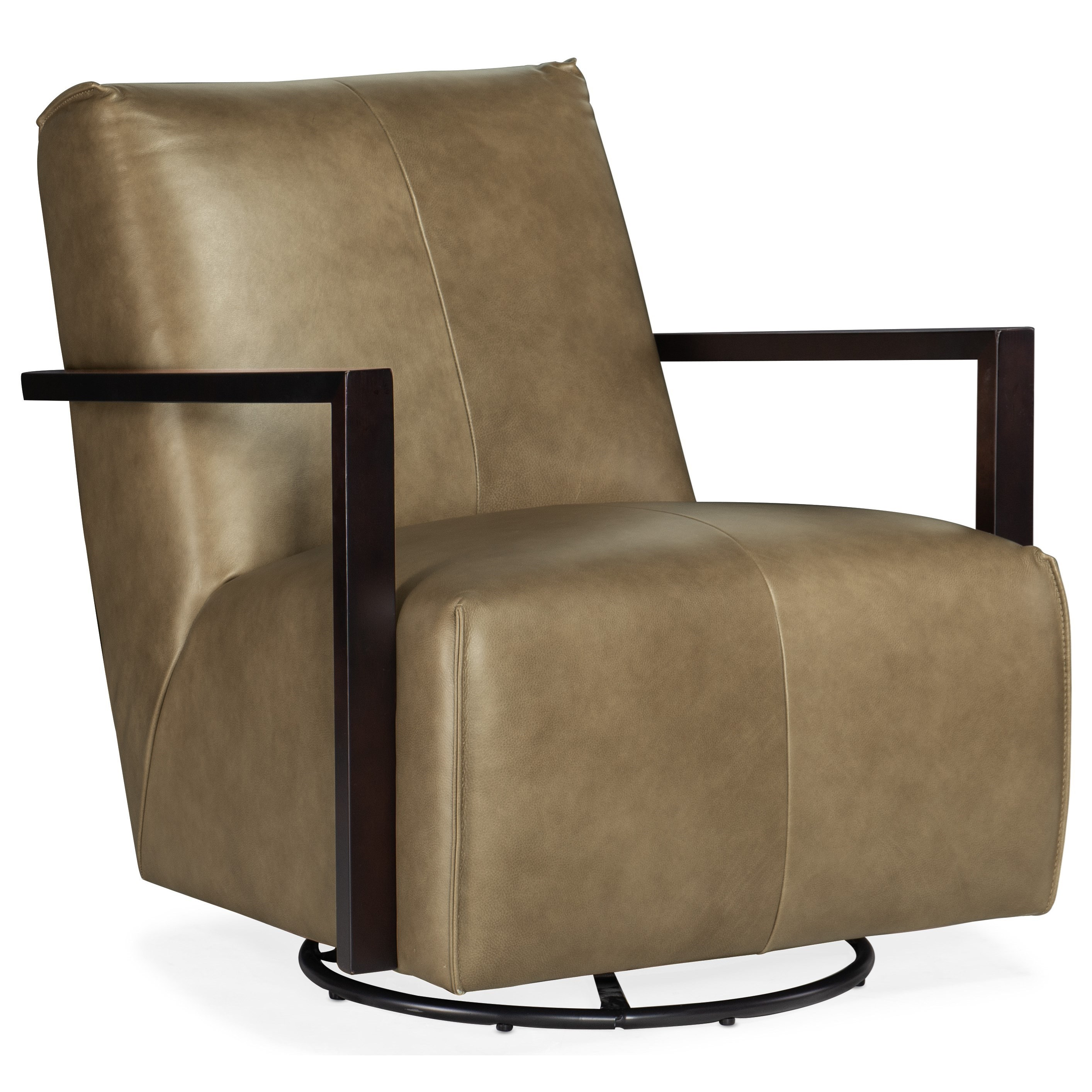 Club Chairs Modestus Exposed Arm Swivel Glide Club Chair by Hooker Furniture at Baer's Furniture