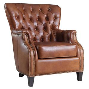 Transitional Wing Back Club Chair