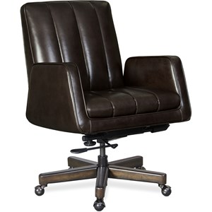 Leather Forest Executive Swivel Tilt Chair