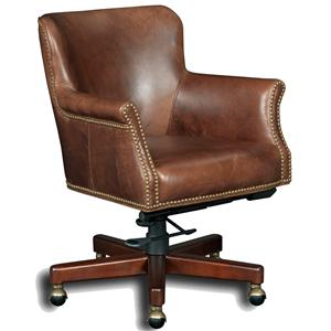 Executive Tilt Swivel Chair with Nailhead Trim