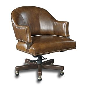 Traditional Swivel Desk Chair with Open Back Design