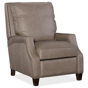Caleigh Transitional Leather Recliner