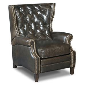 Reclining Wing Chair with Button Tufting and Nailheads