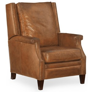 Collin Leather Recliner with Wing Back