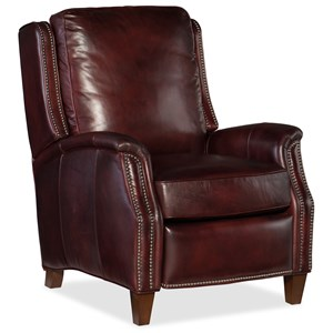 Transitional Amberly Recliner with Nailhead Trim