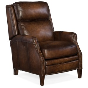 Zephyr Power Recliner with Nailhead Trim