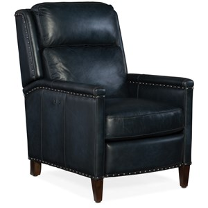 Zen Transitional Power Recliner with Nailhead Trim