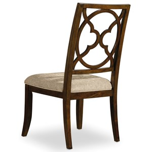Fretback Side Chair with Upholstered Seat