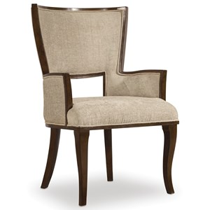 Upholstered Arm Chair with Cabriole Legs