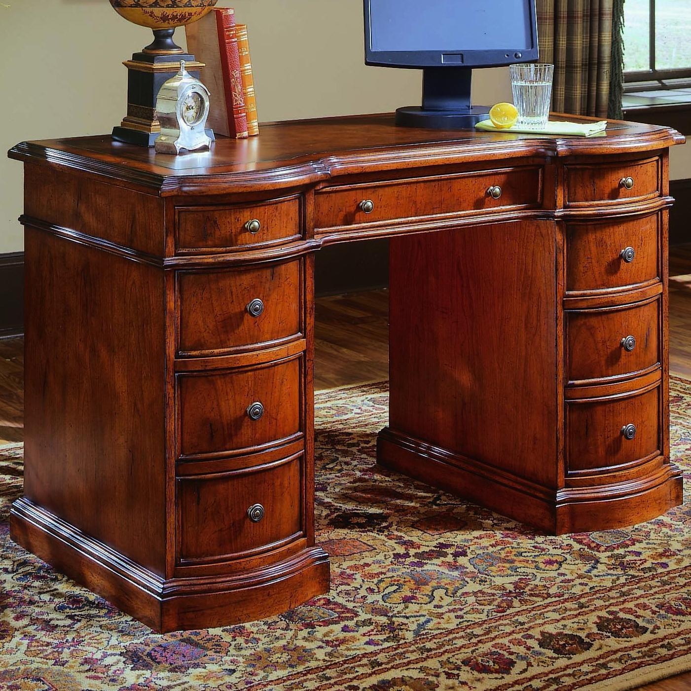 Small Knee-Hole Desks Knee Hole Desk by Hooker Furniture at Baer's Furniture