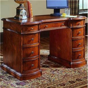 Knee Hole Desk with Bow Front