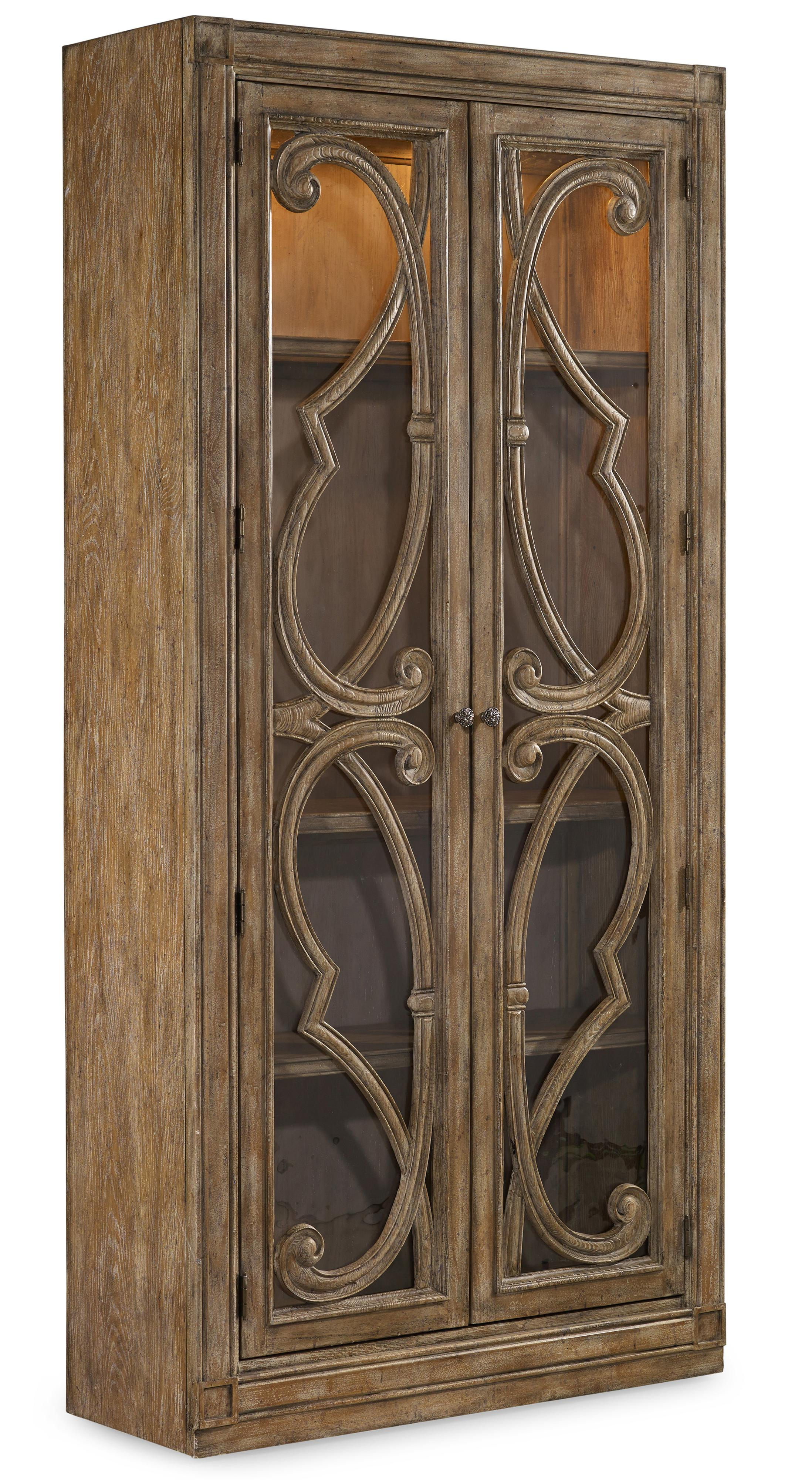 Solana Bunching Curio Cabinet by Hooker Furniture at Baer's Furniture