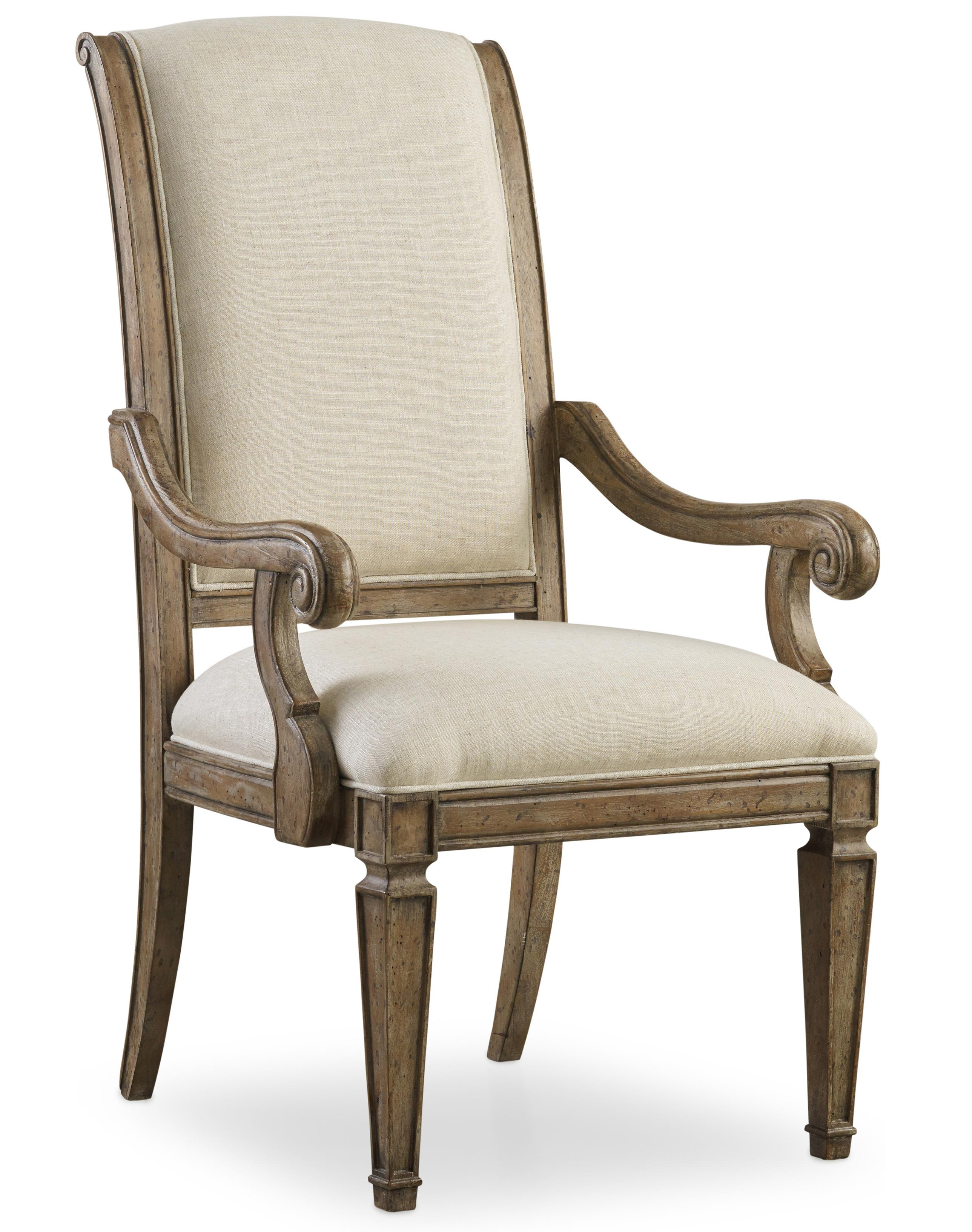 Solana Upholstered Arm Chair by Hooker Furniture at Baer's Furniture