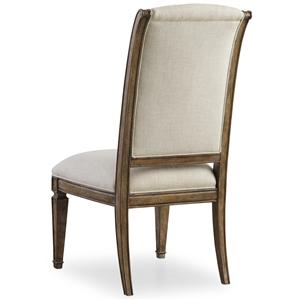Upholstered Side Chair with Tapered Legs
