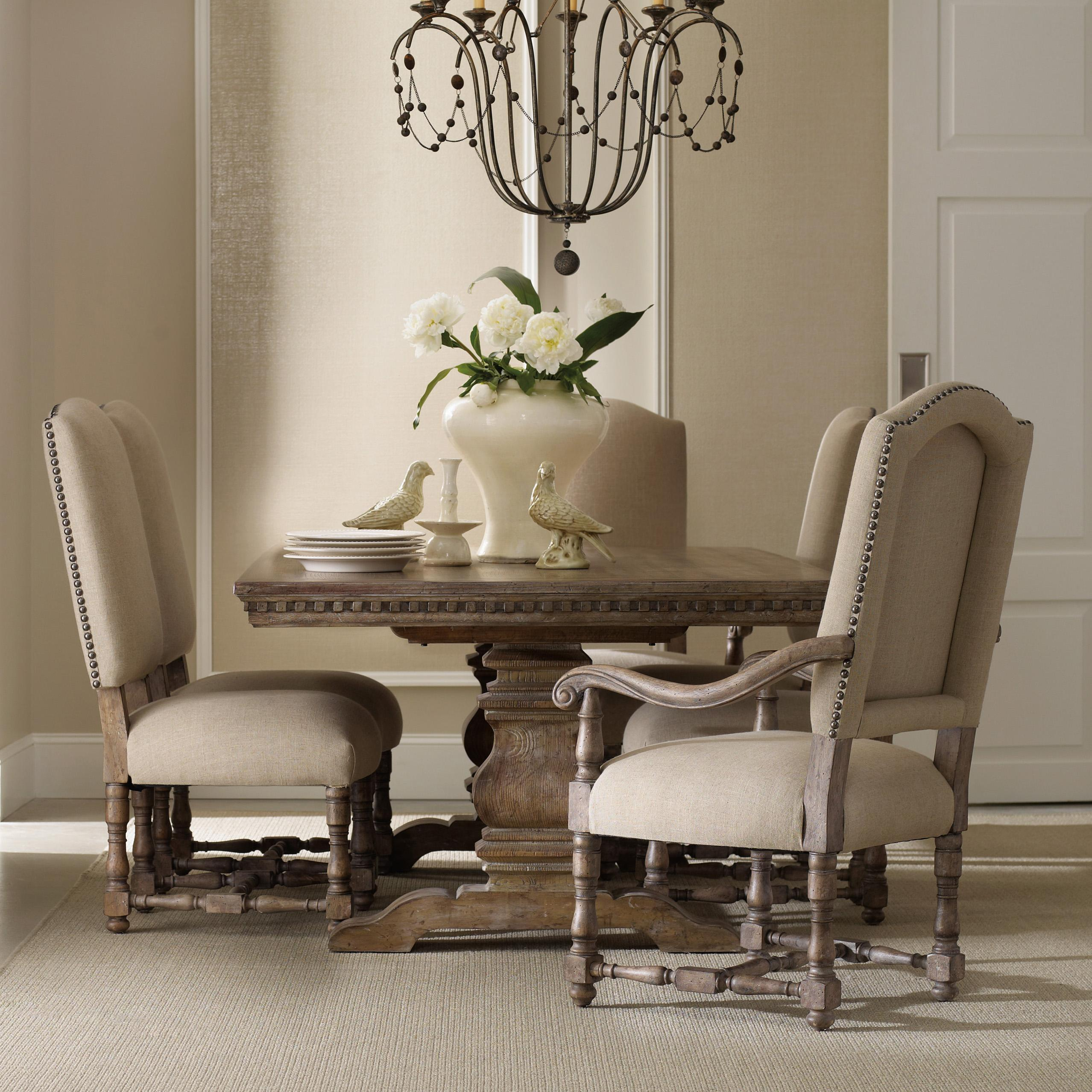 Sorella Rectangular Table with Upholstered Chairs by Hooker Furniture at Baer's Furniture