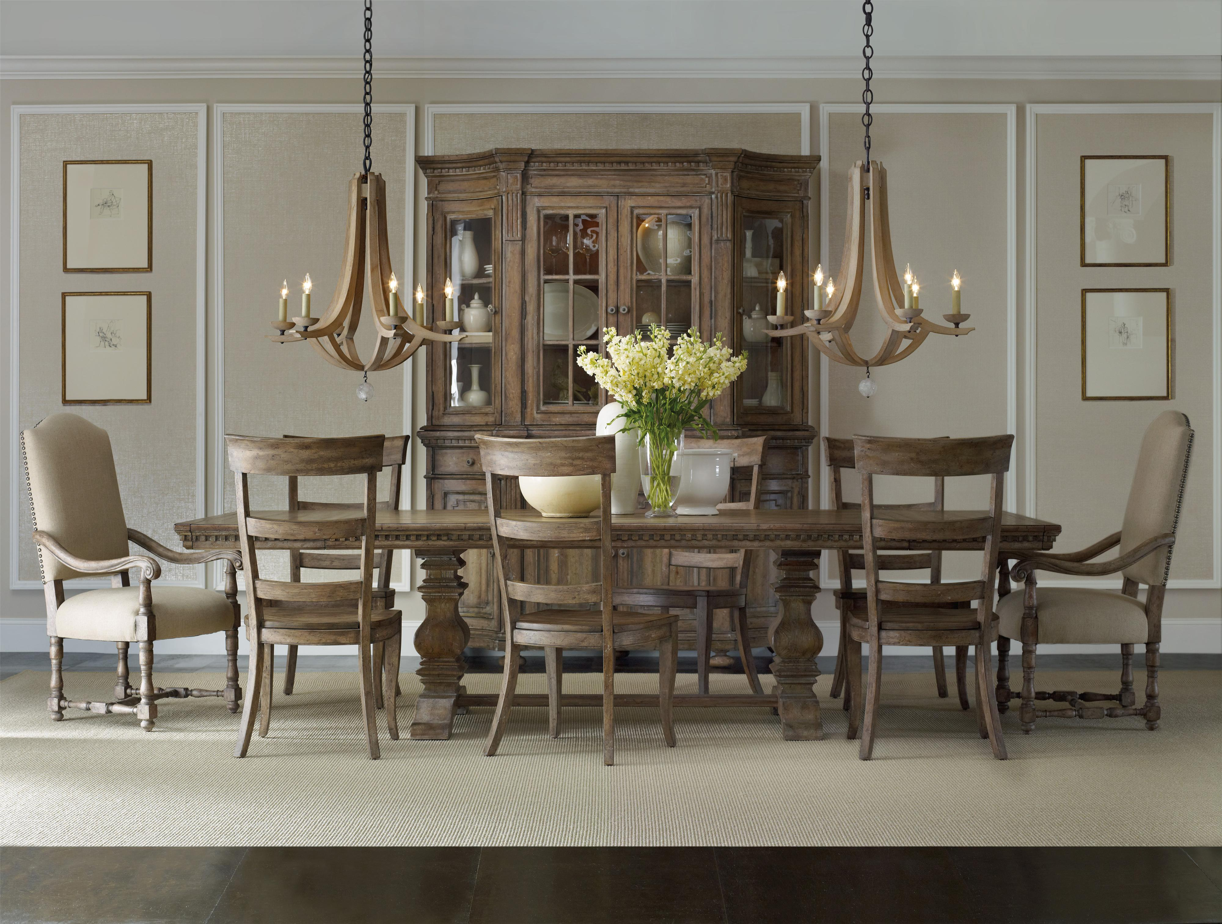Sorella Rectangular Table with Mixed Style Chairs by Hooker Furniture at Baer's Furniture