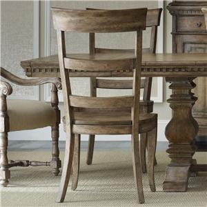 Ladderback Dining Side Chair with Contoured Wooden Seat