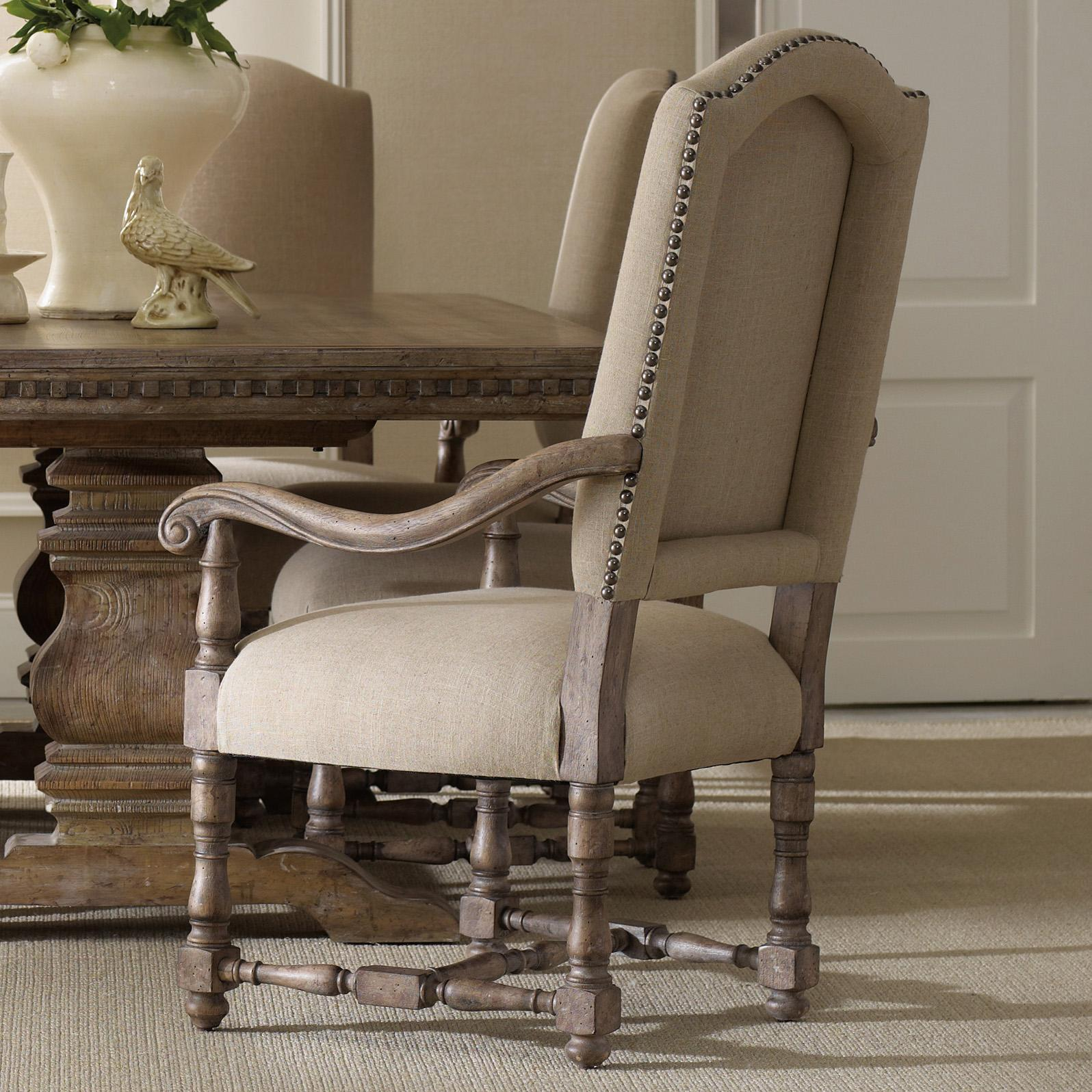 Sorella Upholstered Arm Chair by Hooker Furniture at Miller Waldrop Furniture and Decor