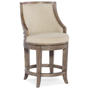 Lainey Transitional Swivel Counter Stool