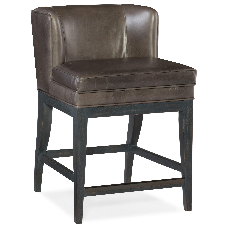 Stools Dark Jada Contemporary Counter Stool by Hooker Furniture at Stoney Creek Furniture