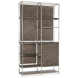 Contemporary Bookcase with One Soft-Close Door