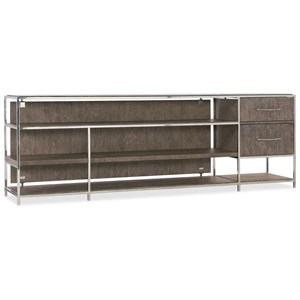 "Contemporary Entertainment Console 84"" with Two Drawers"