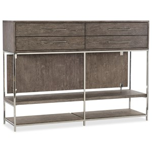 Contemporary Console with Four Drawers