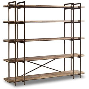 Scaffold Bookcase/Entertainment Console with 5 Shelves