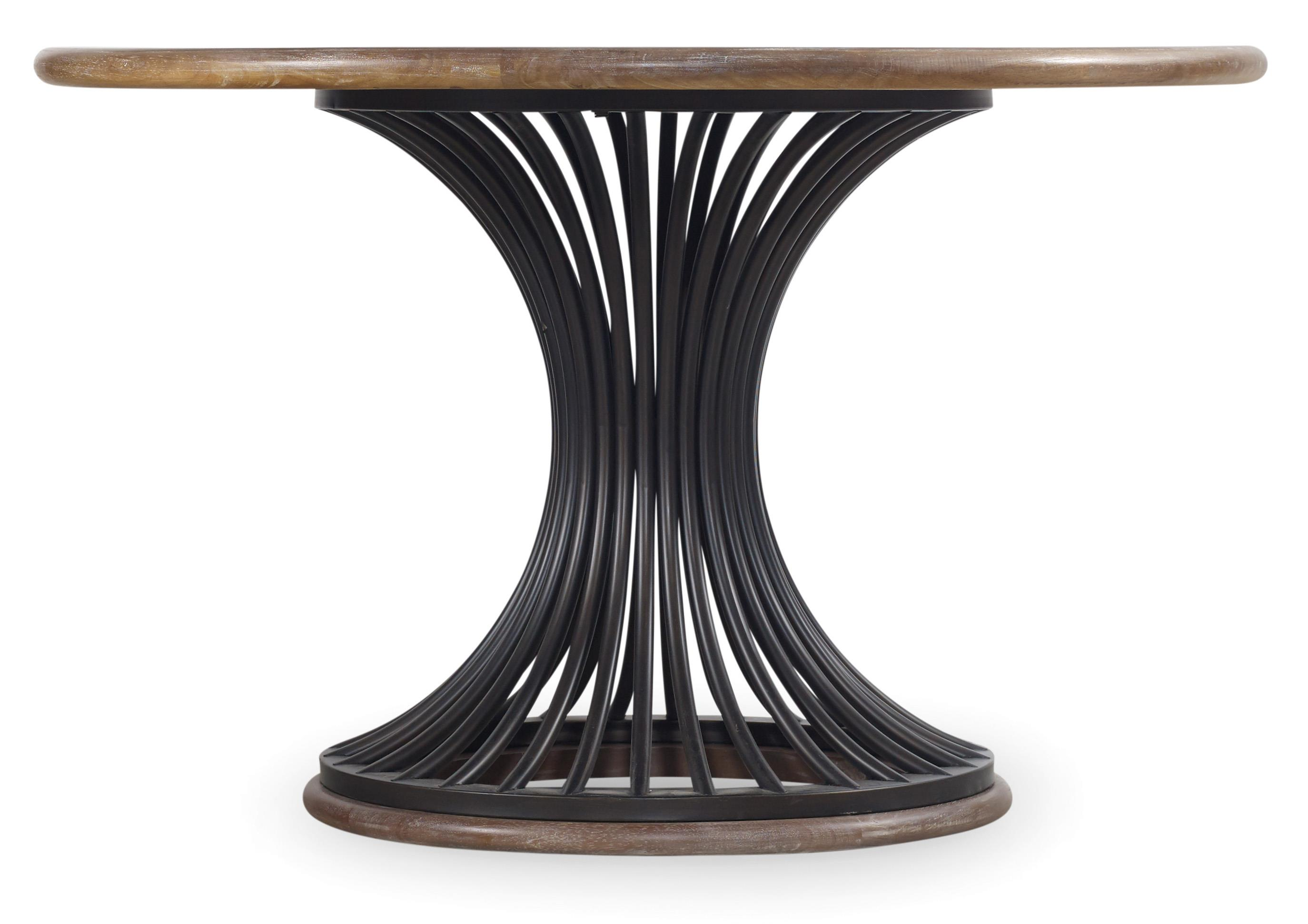 Studio 7H Cinch Round Dining Table by Hooker Furniture at Baer's Furniture
